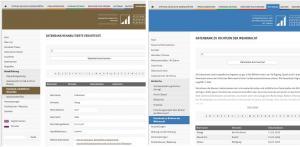 Screenshot Datenbanken Dokumentationsstelle Dresden und DIZ Torgau