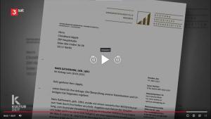 Screenshot Dokumentationsstelle unterstützt Recherchen zu NS-Endphaseverbrechen - Beitrag bei 3sat
