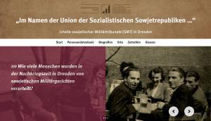 Screenshot der Webseite www.smt-dresden.de