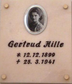 Gertrud Hille Gedenktafel