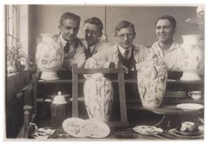 Hermann Dietze mit seinen Kollegen (2 v. r.)