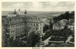 Ansicht der Anstalt Kosmonosy, um 1930