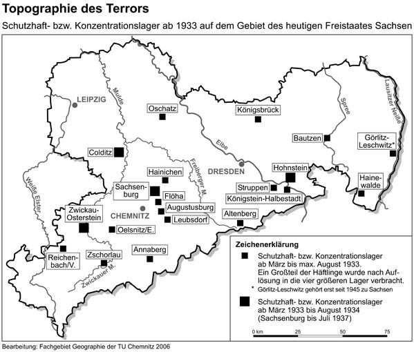 Chemnitz Karte.Karte Fruhe Konzentrationslager In Sachsen Stiftung